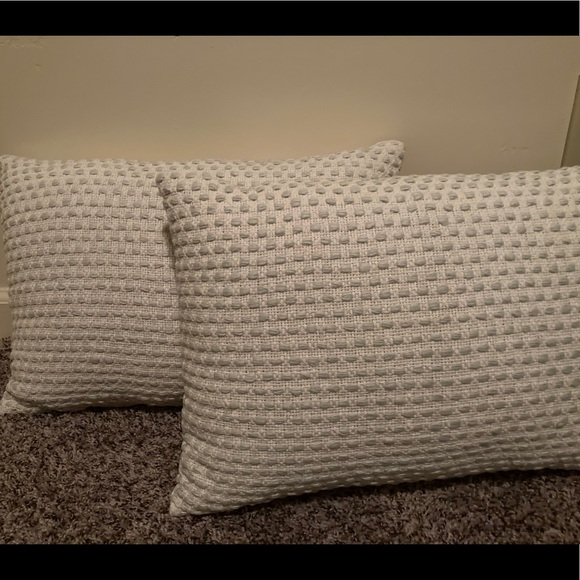Hearth& Hand woven texture throw pillow set of 2